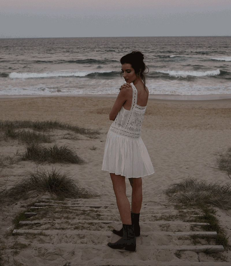 Elle-May Leckenby - Aphtodite Dress White, Raylan Boot - Sunday Lace