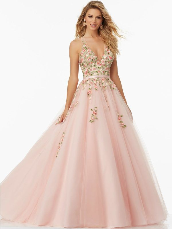 Prom #Gown Embroidered Mori Lee Prom Ball Gown | Spring Style ...