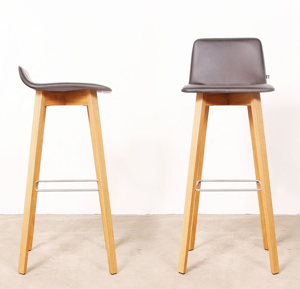 Maverick Bar Stool In Either The High Or Low Backrest Wooden Frame Ergonomically Designed Seat