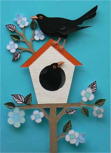 helen musselwhite good morning paper cuts pinterest fr hlingsbilder projekte und deko. Black Bedroom Furniture Sets. Home Design Ideas