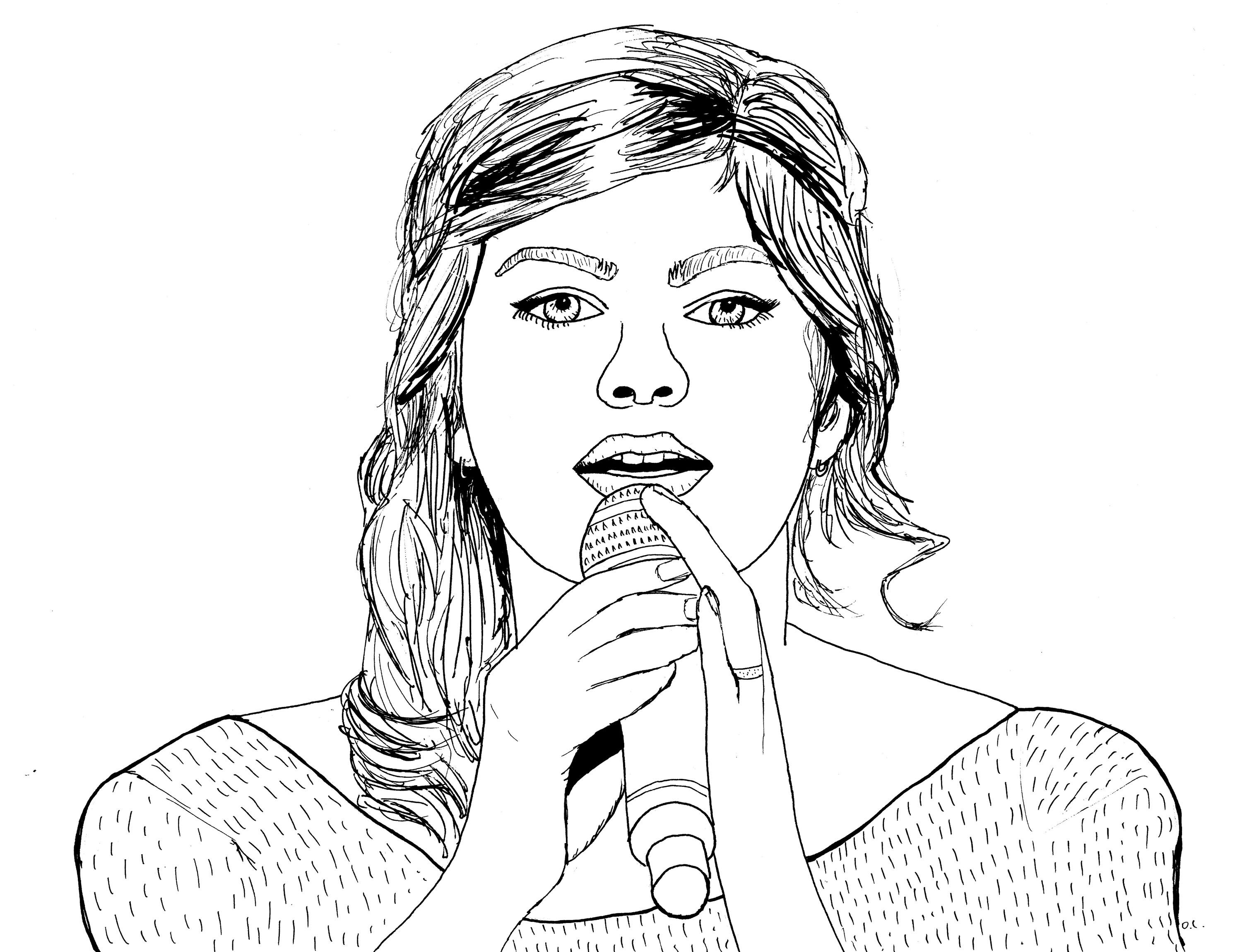 Coloriage de Louane Louane Coloring page French singer & actress by Olivier