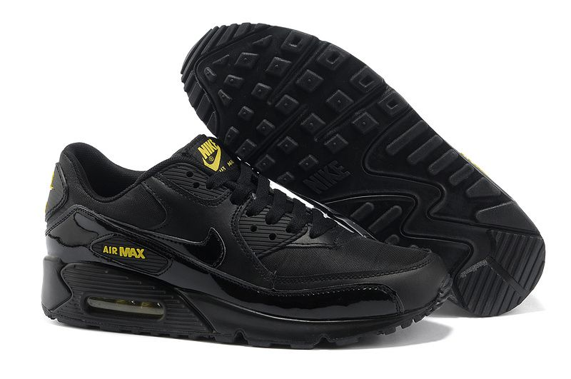 black and yellow nike air max 90