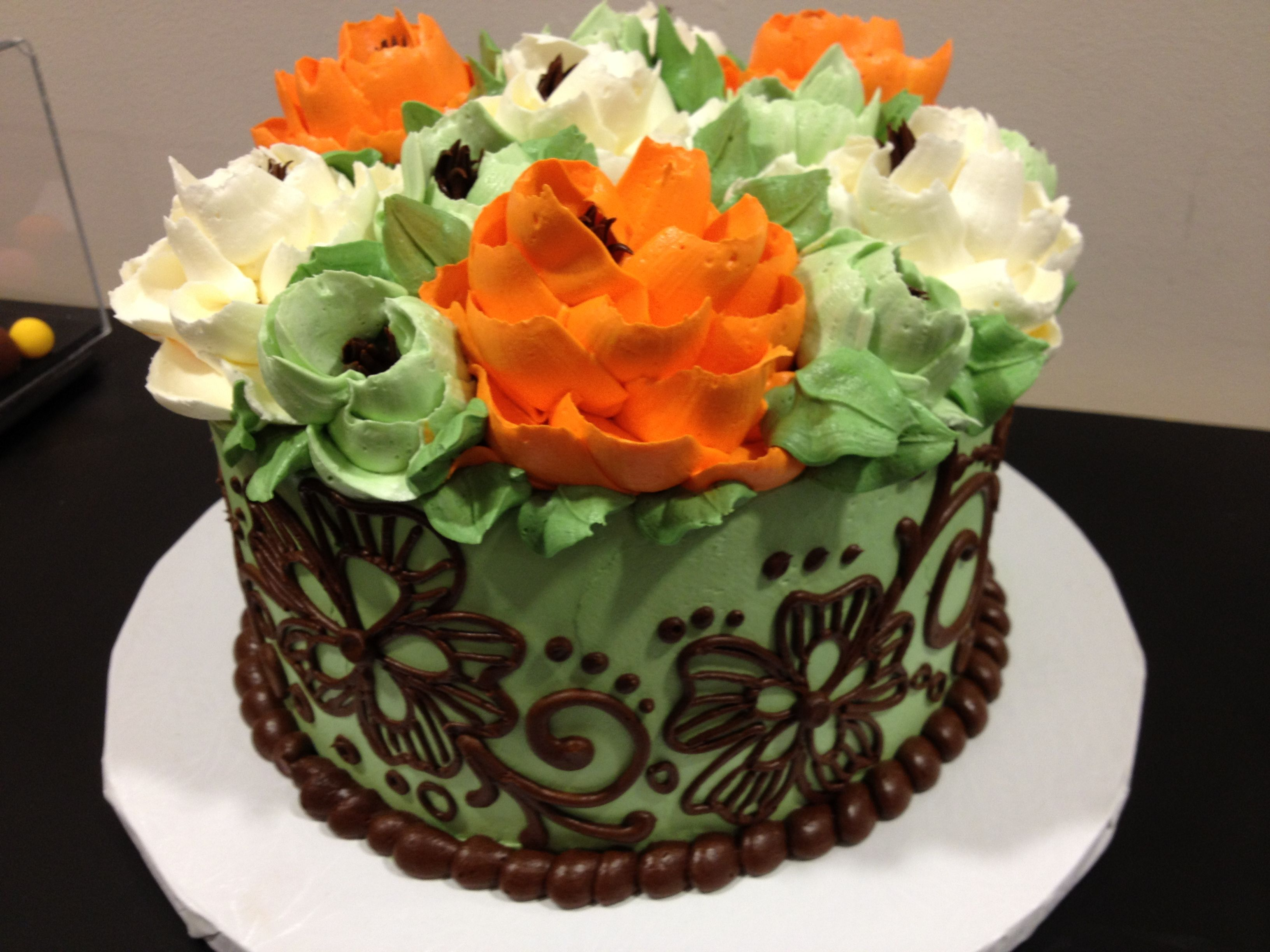 Gorgeous Buttercream Piped Cake By The White Flower Cakes Cakes