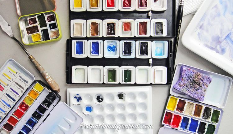 Choosing A Watercolor Palette Watercolor Pans Watercolor Palette