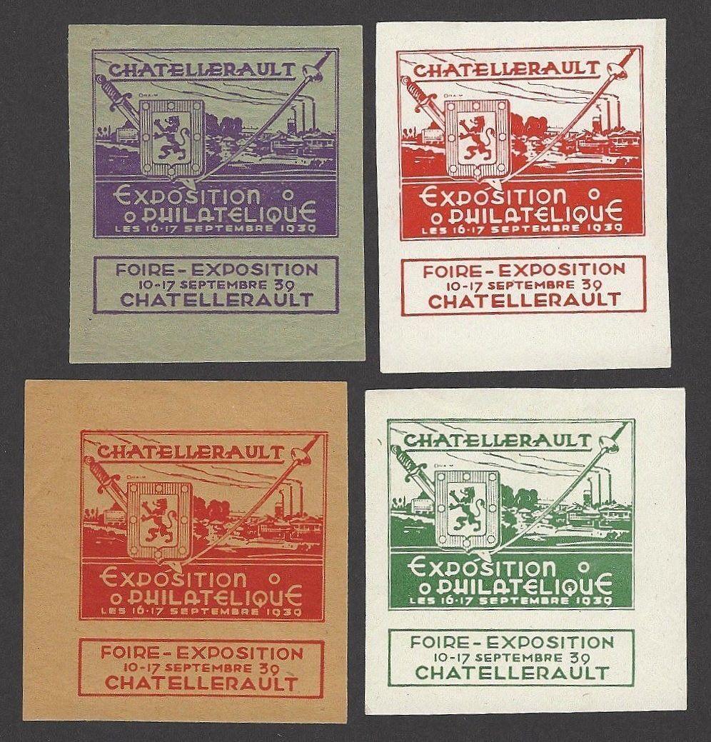 Francia 1939 chatelleraut Exposición Filatélica