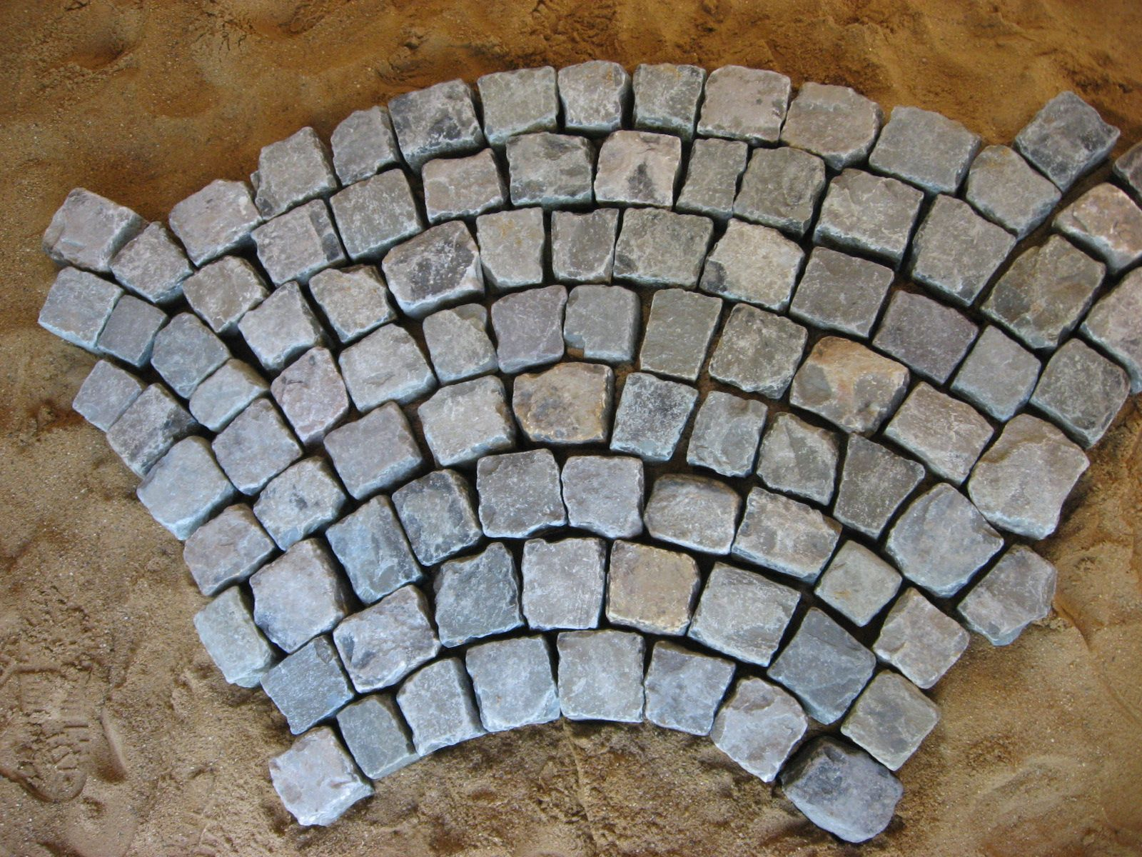 Shown dry antique reclaimed cobblestone in the for Buy reclaimed wood san francisco