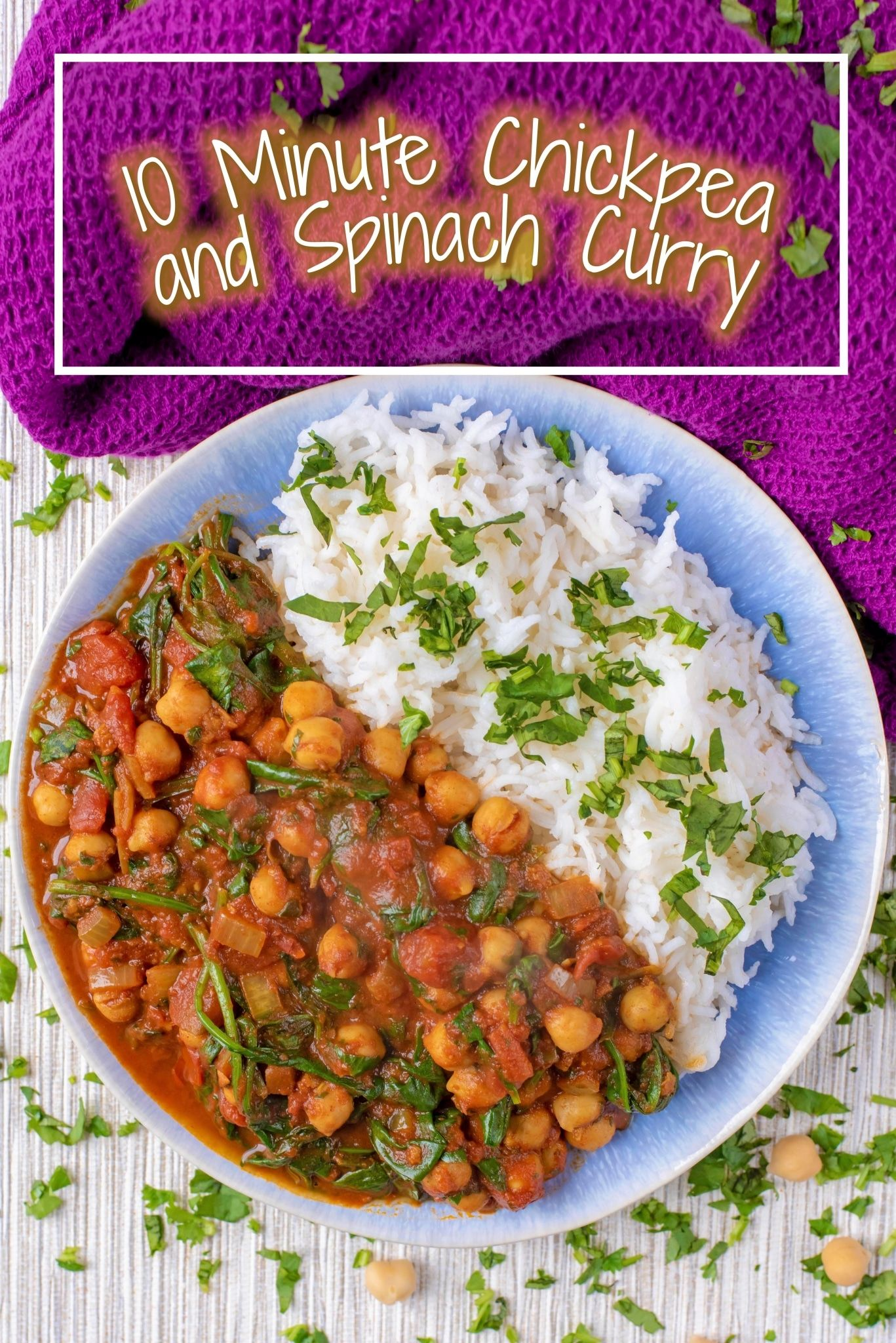 10 Minute Chickpea and Spinach Curry Recipe Vegan