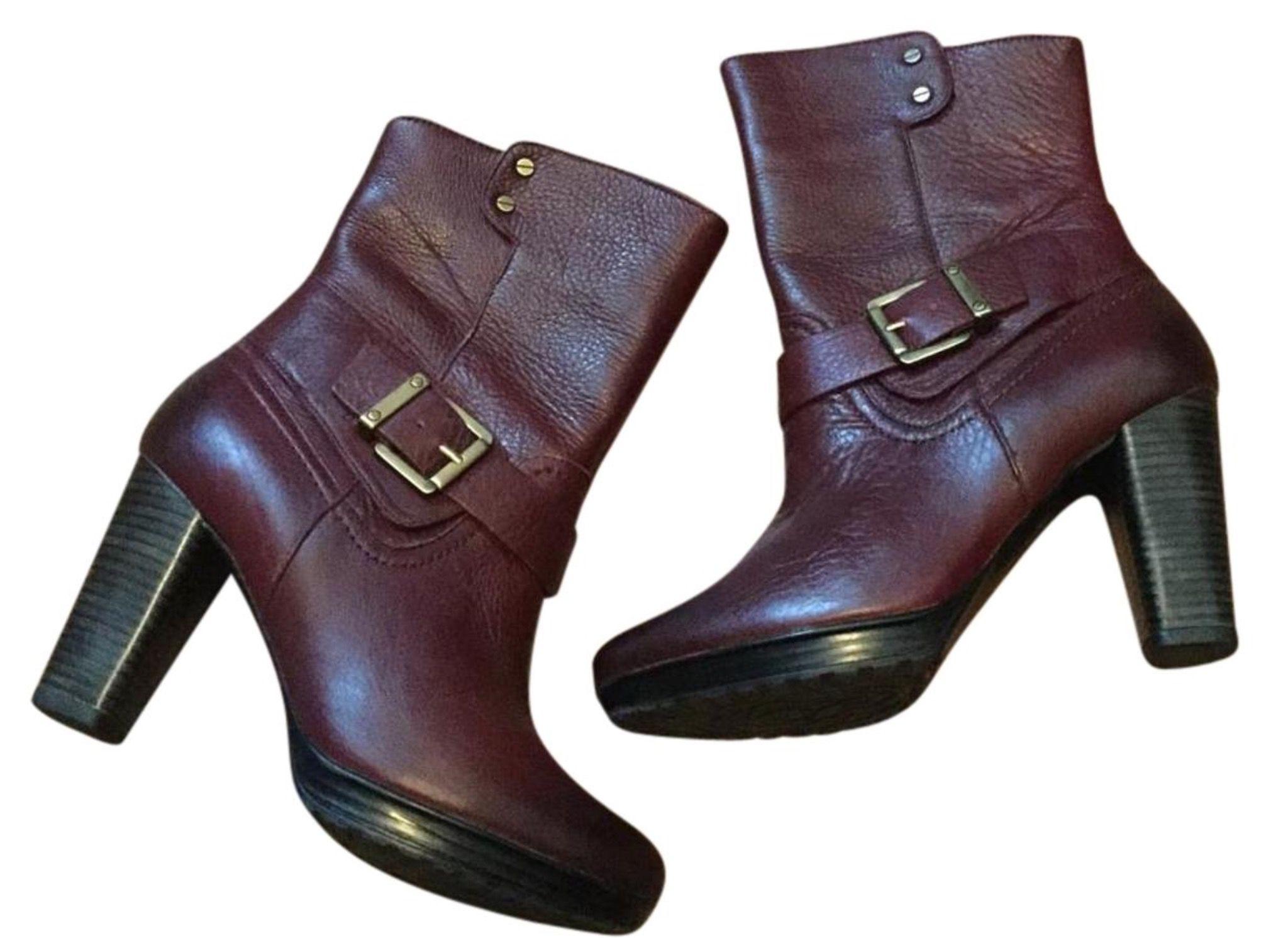 Oxblood pebbled leather ankle boots. #buyit :  www.Tradesy.com/closet/bargainsandbaubles Clarks Lida Sayer, size 7.