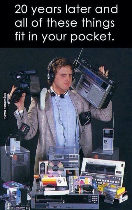 Haha...modern technology