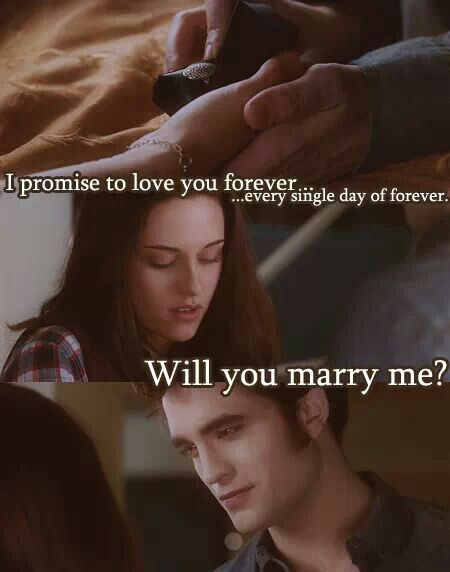 Edward Proposal Twilight Quotes Twilight Funny Twilight Book