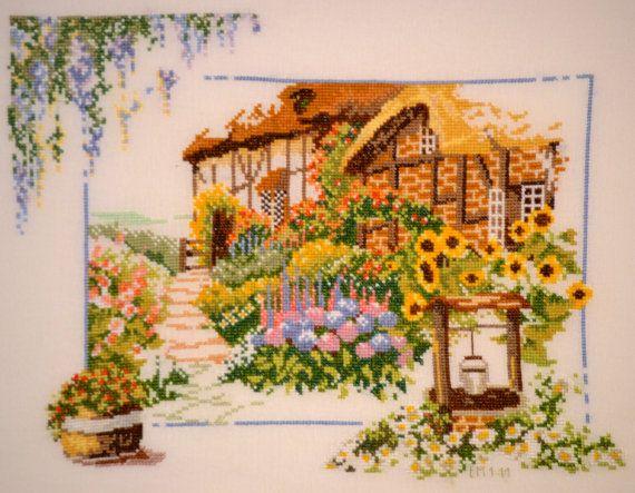 Casa con Girasoles