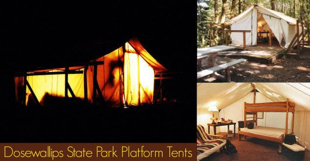 Platform Tents At Dosewallips State Park Olympic
