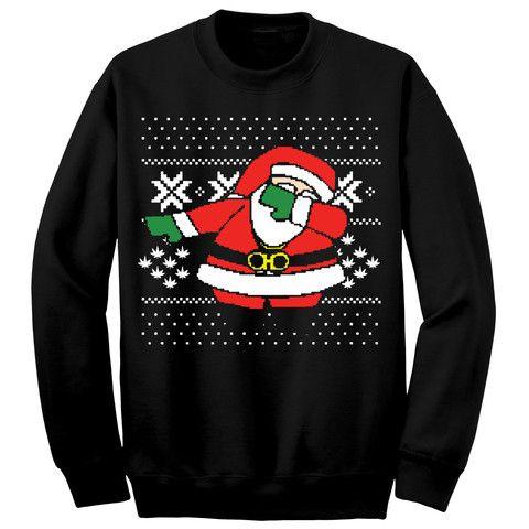 Dabbing Santa Ugly Christmas Sweater | dope | Pinterest | Ugliest ...