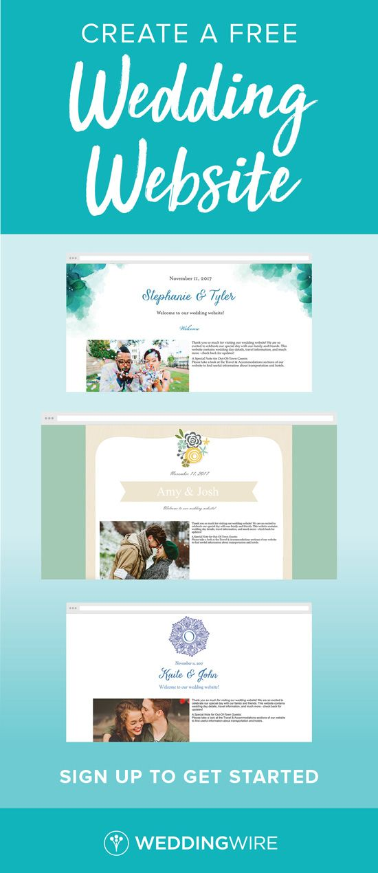 Sign Up To Create Your Wedding Website Get Other Essential Free Planning Tools