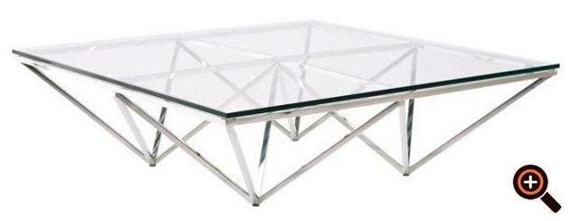Designer Couchtisch – Trend Möbel – Wohnzimmertisch aus Holz, Glas ...