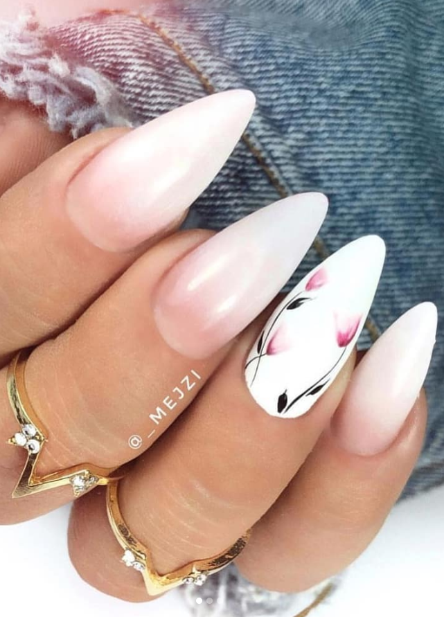 54 Perfect Short Acrylic Almond Nails Design For This Summer Page 43 Of 54 Latest Fashion Trends For Woman Almond Nails Designs Almond Shape Nails Almond Nails