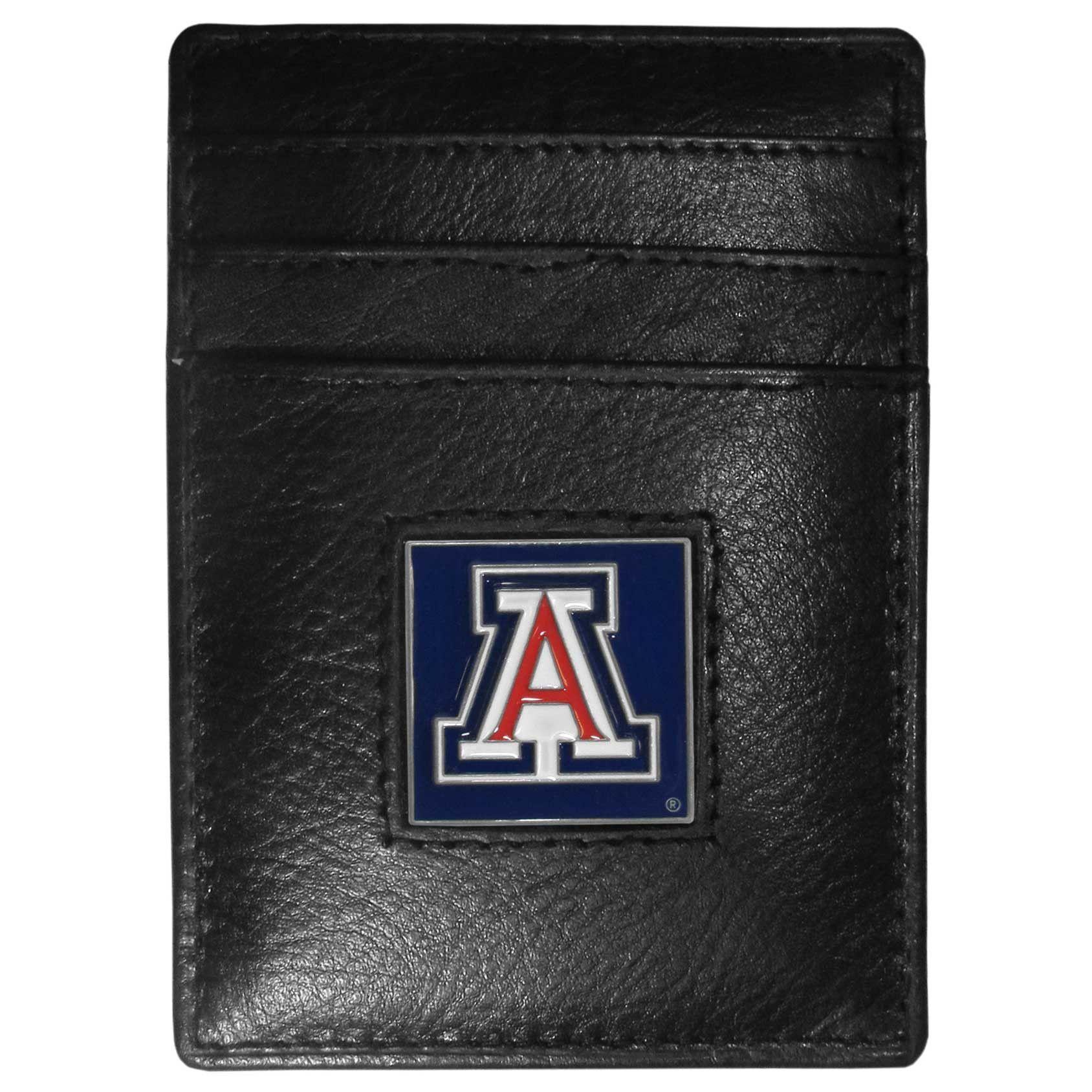 Arizona Wildcats Leather Money Clip/Cardholder