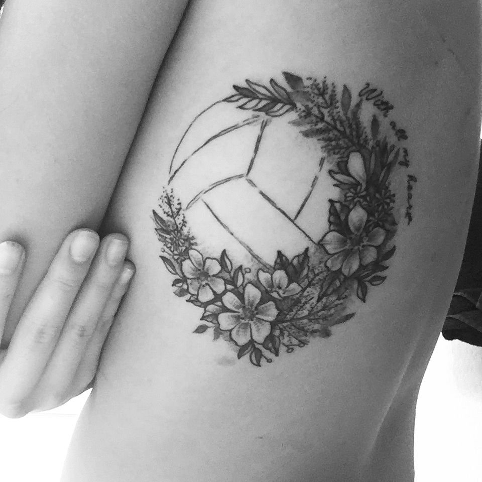 Volleyball Tattoo Volleyball Tattoos Circle Tattoos Bff Tattoos