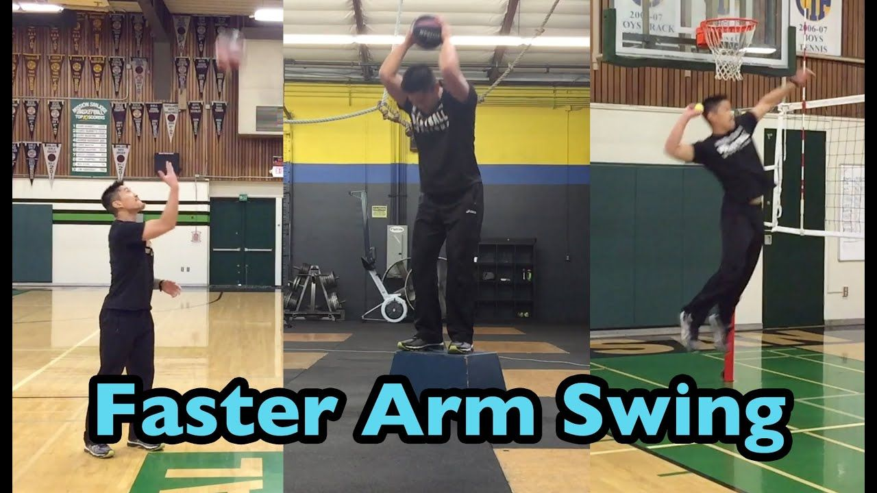 Develop A Faster Arm Swing How To Spike A Volleyball Tutorial Coaching Volleyball Volleyball Tryouts Volleyball Drills