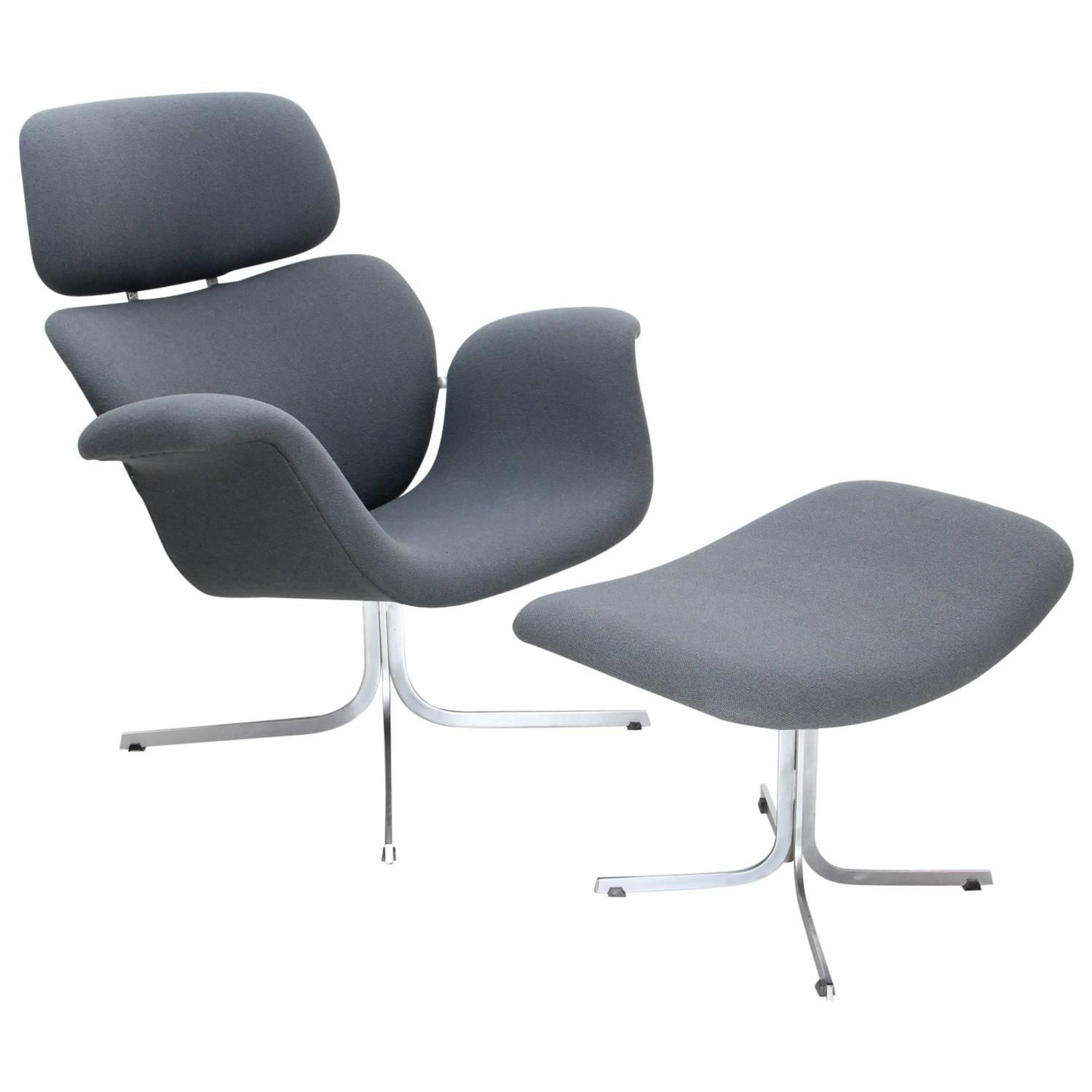 1965 Big Tulip Lounge Chair With Ottoman By Pierre Paulin