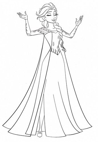 Walt Disney Coloring Pages Queen Elsa Elsa Coloring Pages Frozen Coloring Pages Disney Coloring Pages