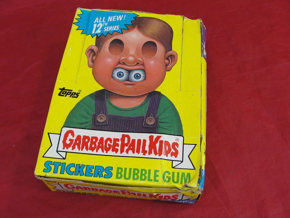 Vtg 1988 Topps Garbage Pail Kids Cards 12th Series Box Unopened 48 Wax Packs Gpk Garbage Pail Kids Cards Kids