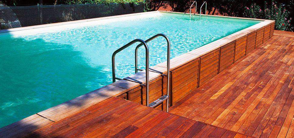 La soluzione più versatile. Le piscine semiinterrate
