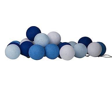 Lichtslinger 20 bollen Blue, L 264 cm
