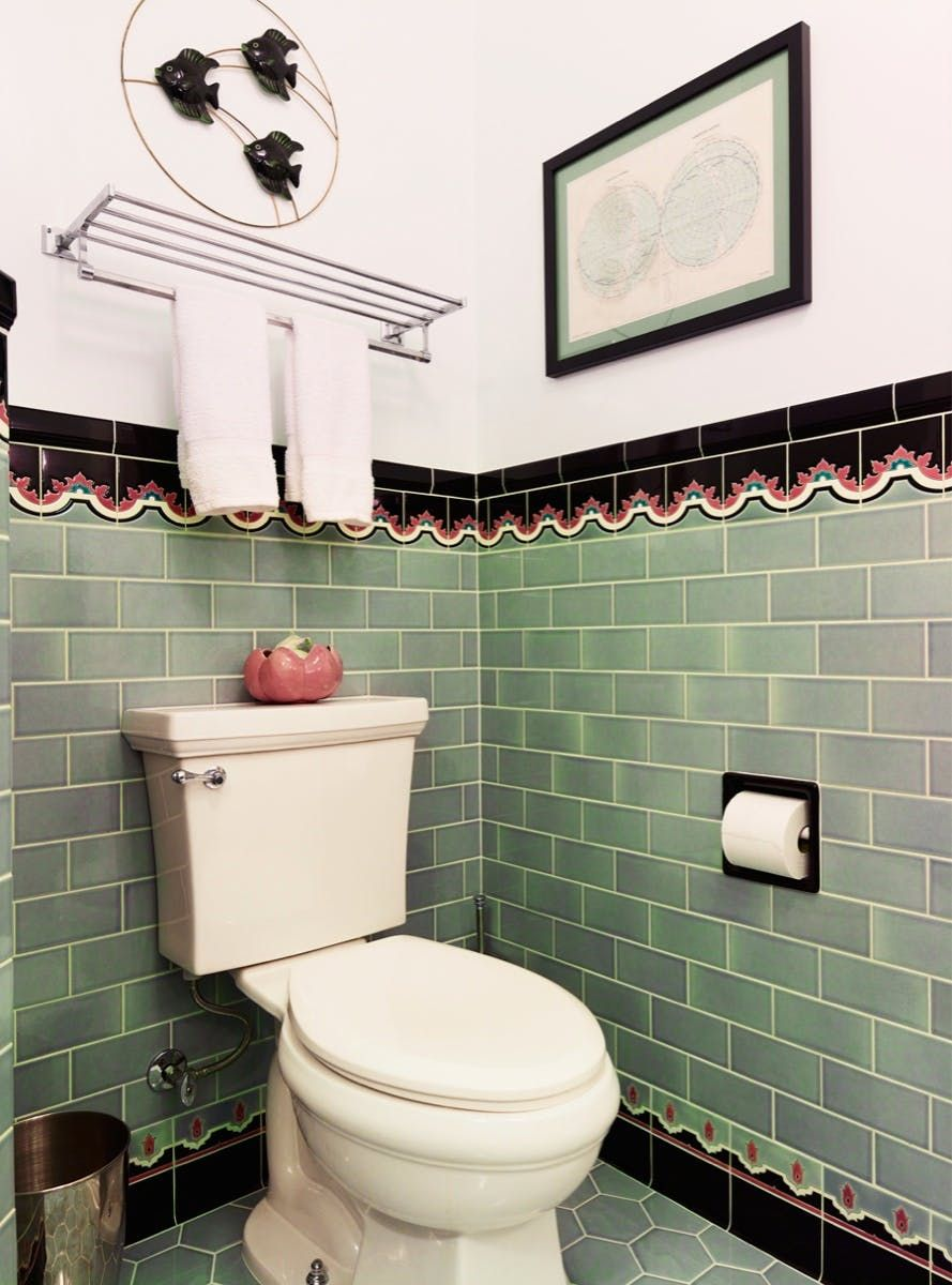 Brand New Colorful Bathrooms That Look Vintage