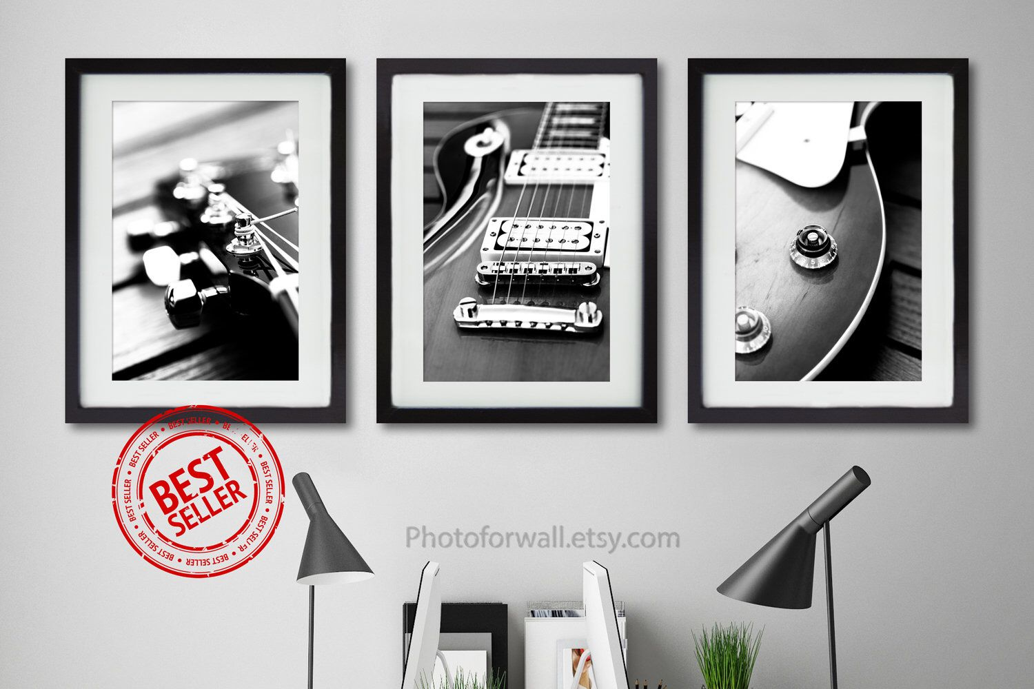 Music Wall Art Print Gift For Music Lover Guitar Music Wall Art In Black And White Photography Music Theme Office Decor Fathers Gift Guitar Wall Art Music Wall Art Guitar Wall