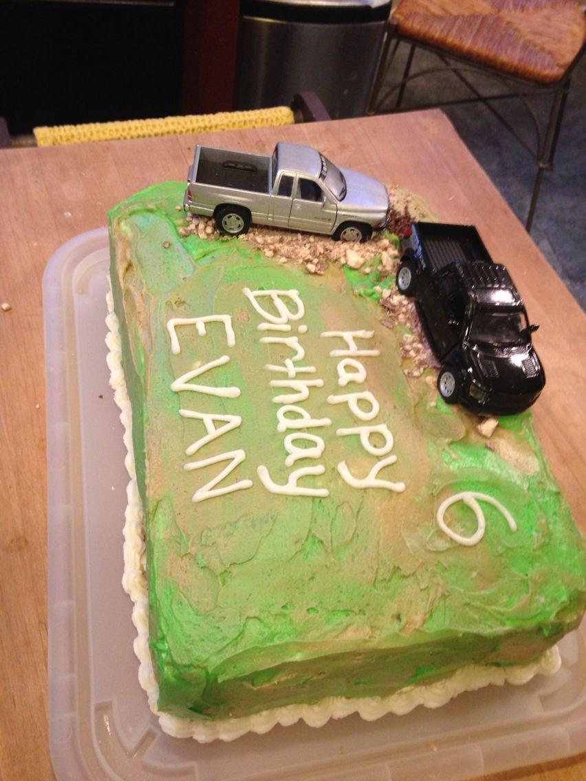Camouflage Cake!  Evan's 6th Birthday - Cowboys and Camo!