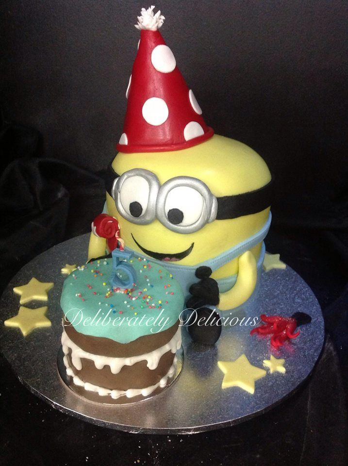 Minion Birthday Cake by Deliberately Delicious Brisbane Queensland