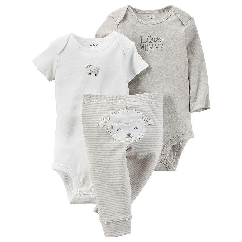 Baby Carter's Lamb Bodysuit & Pants Set, Infant Unisex, Size: