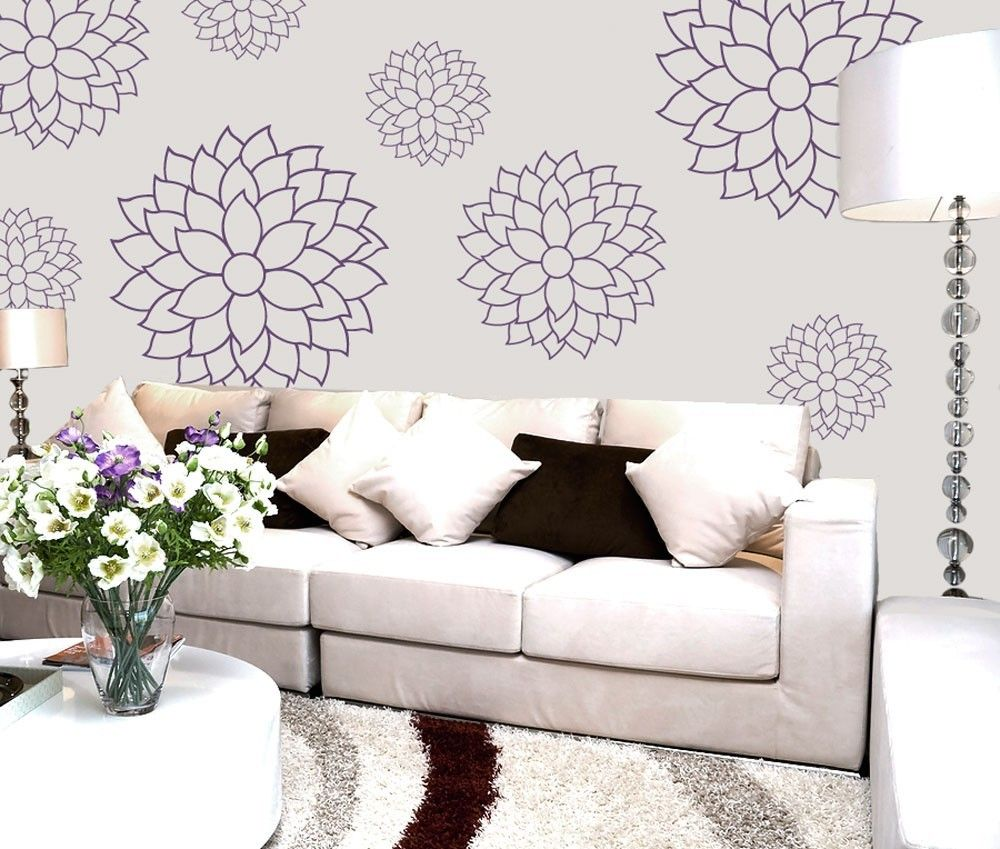Vinyl wall decal sticker art cheerful and delicate mums