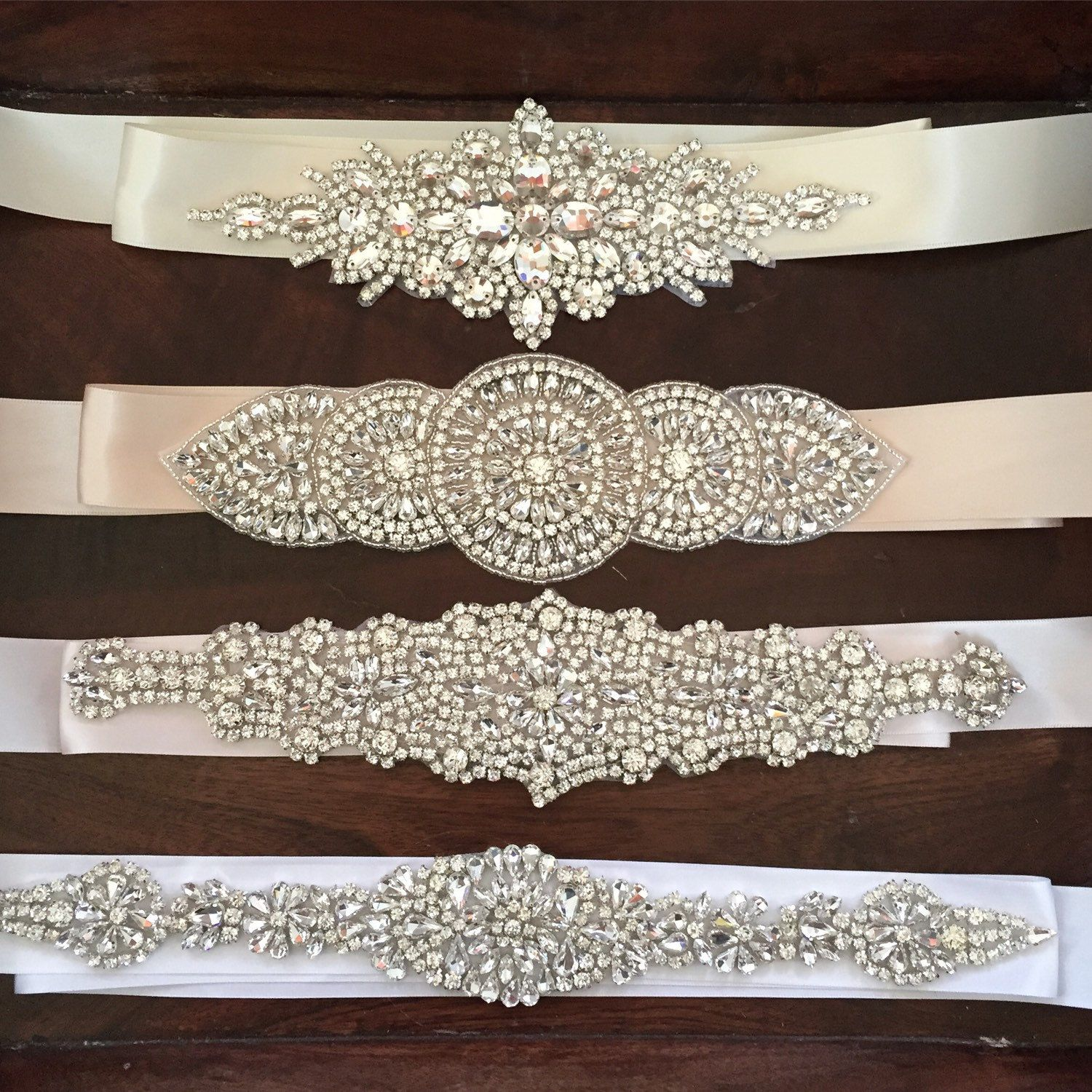 Bridal Sash Bridal Belt Wedding Belt On Ribbon Sash