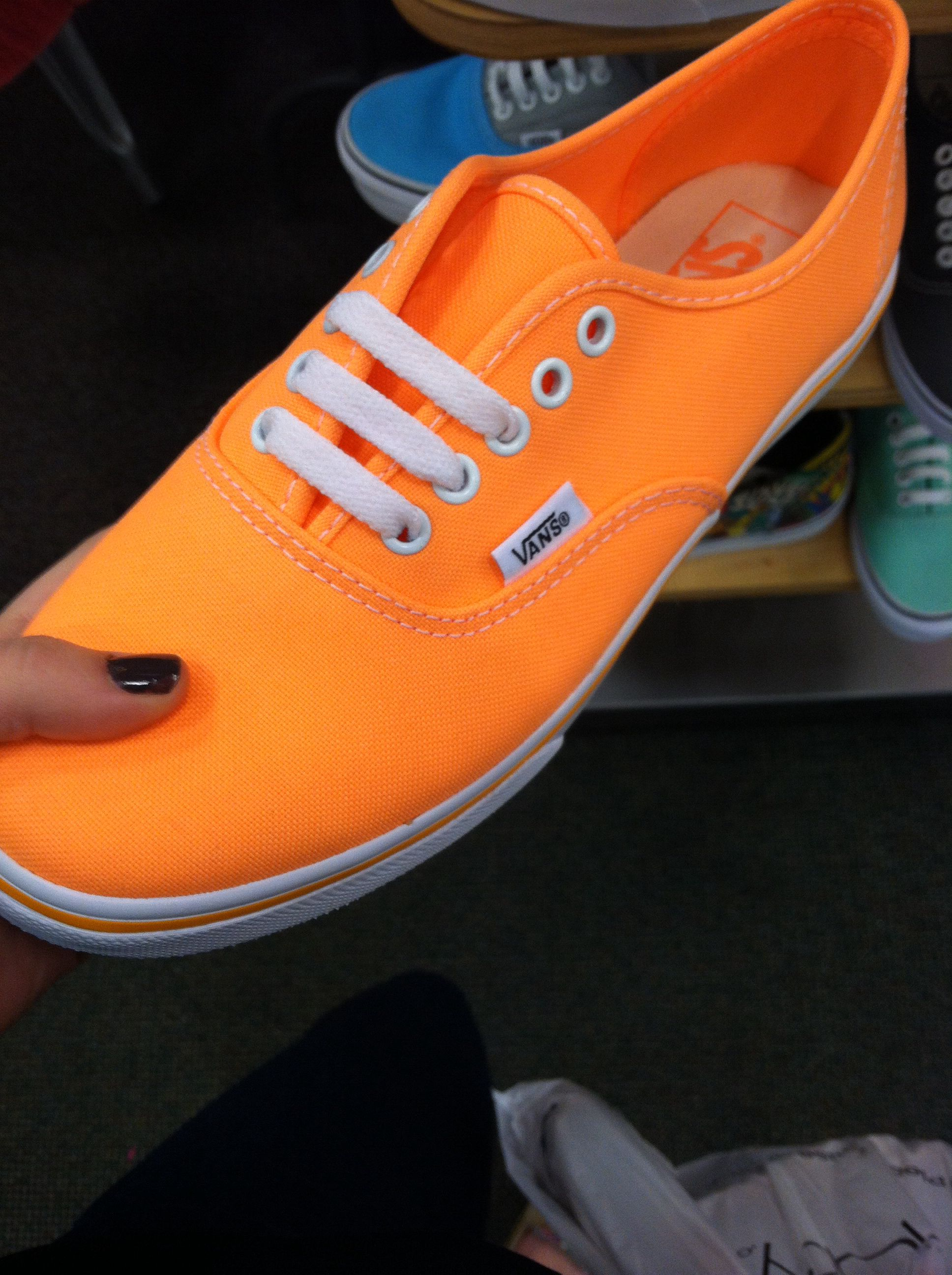 Neon orange Vans | Shoes | Vans shoes, Shoes, Crazy shoes