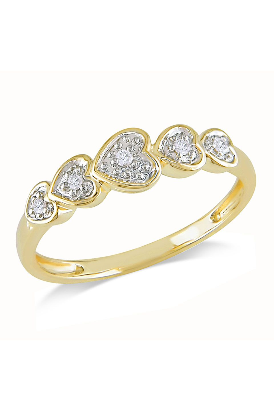 0.05 CT Diamond Fashion Ring In 10k Yellow Gold Like Capri ...