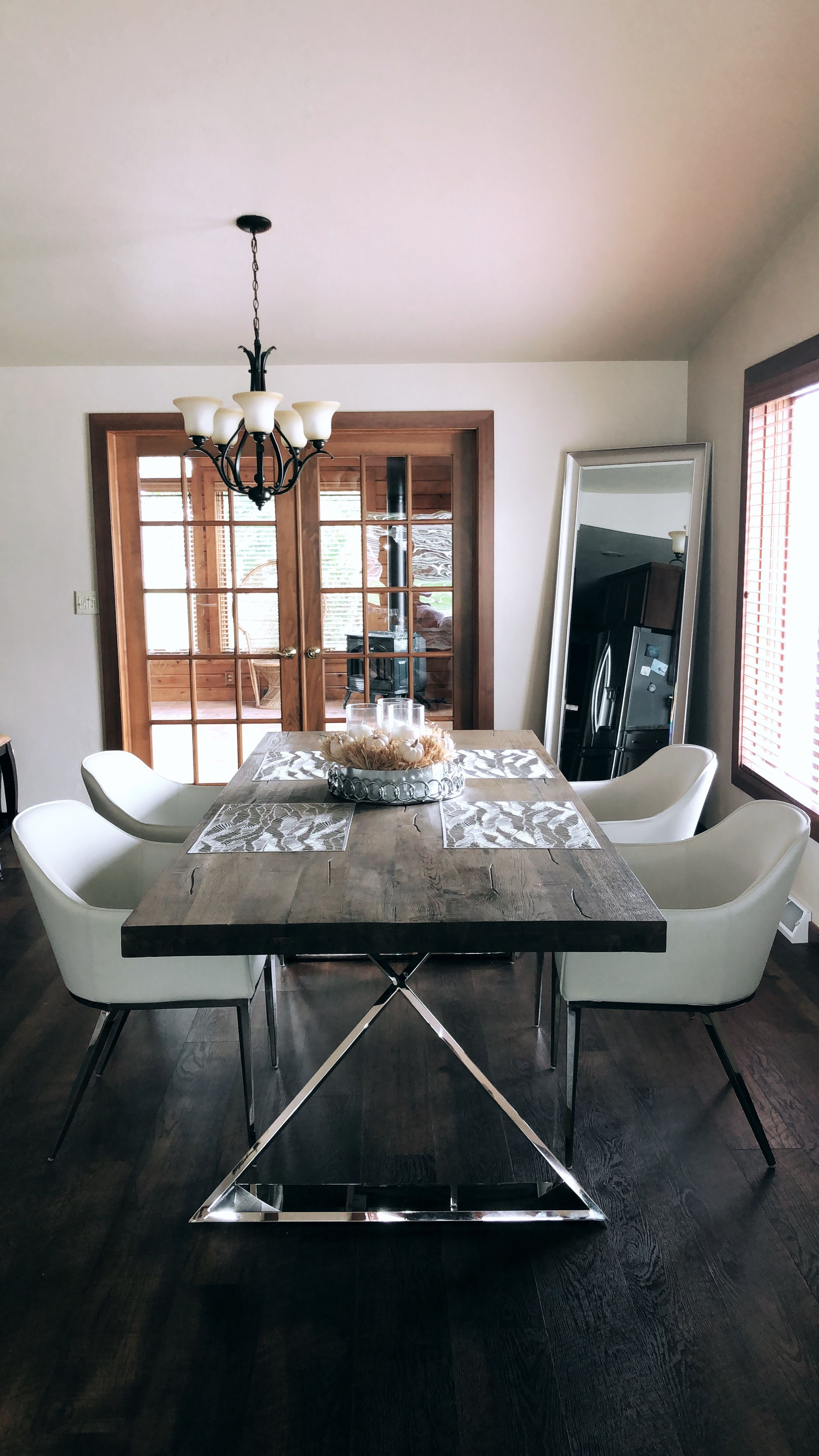 My Modern Dining Room I Am In Love With The Chrome Leg