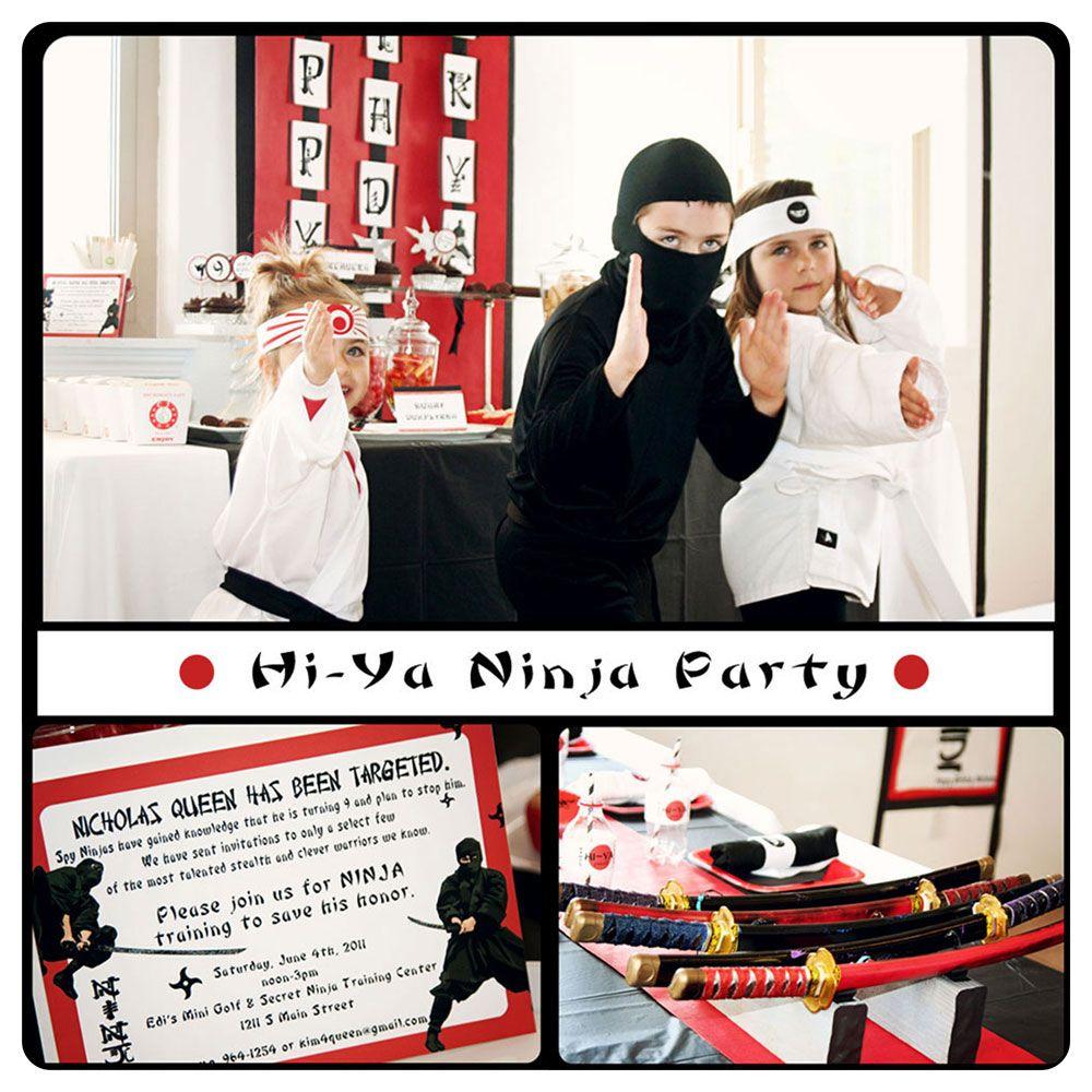 Karas Party Ideas Hi Ya Ninja Birthday