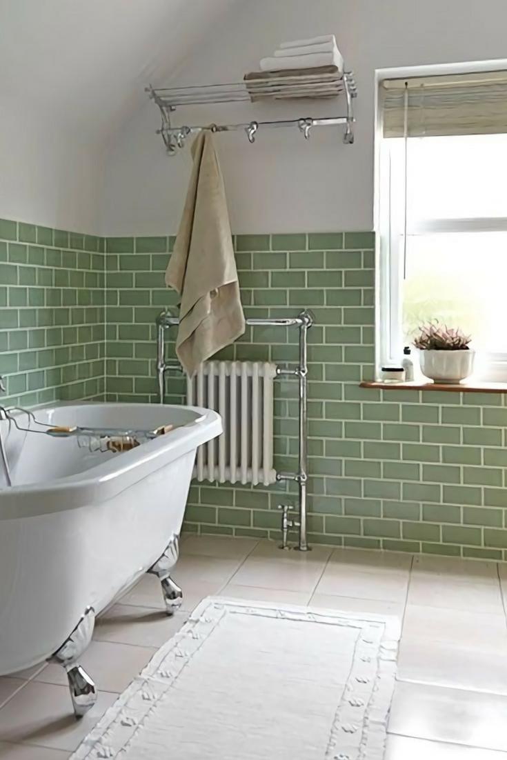 Turn Your Home Green This St Patrick S Day Kukun Green Tile Bathroom Cheap Bathroom Flooring Tile Bathroom