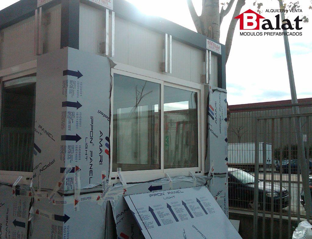 Caseta de vigilancia caseta prefabricada barcelona for Construccion modular prefabricada