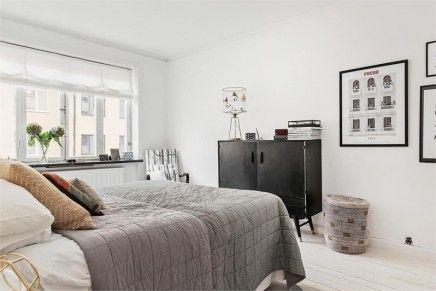 Scandinavische slaapkamer met industriële kasten | Slaapkamers ...
