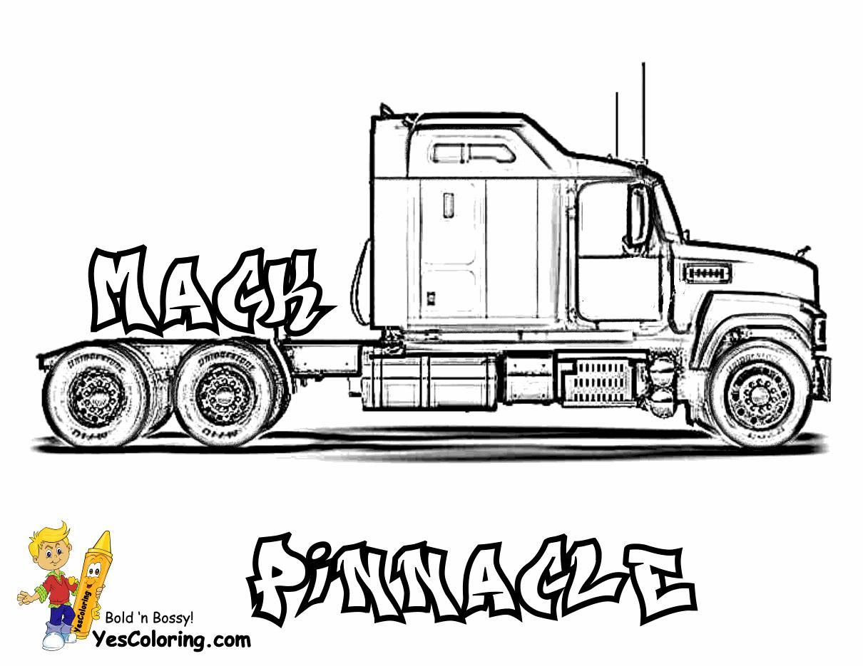 8 Coloring Page Trucks Truck Coloring Pages Big Rig Trucks Coloring Pages For Boys