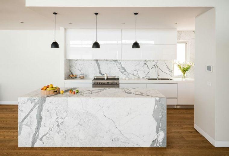 marmol de carrara Interiores para cocina Pinterest