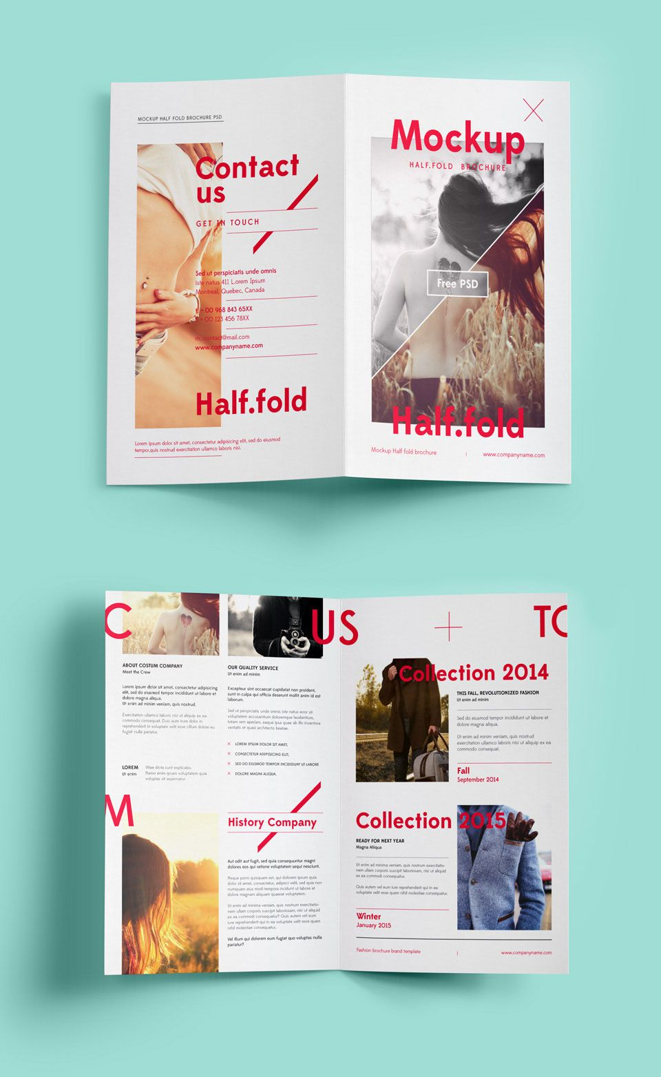 free bi fold brochure mockup free mockup mockup mockup