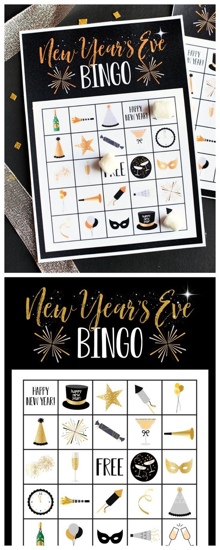 Free Printable New Years Eve Bingo New years eve games