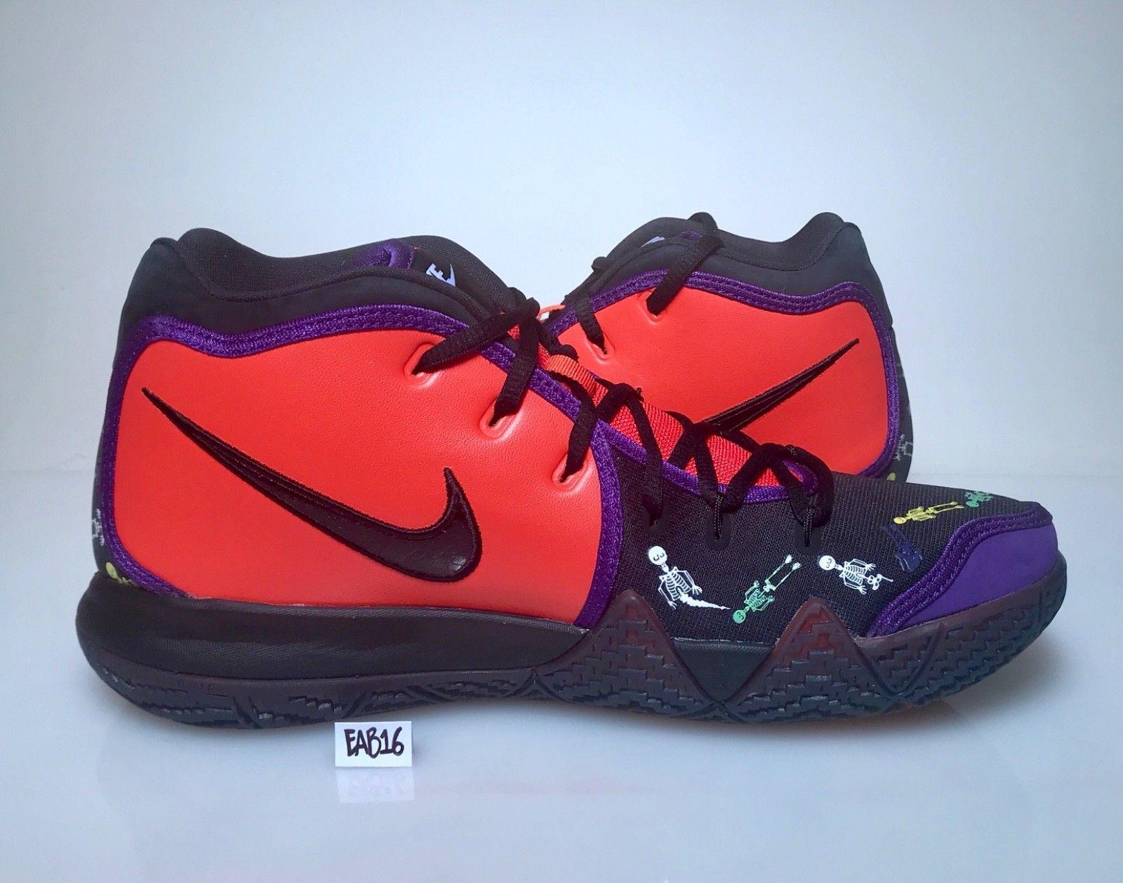 5275c1c5a6f3 Nike Kyrie Irving 4 IV Day Of The Dead DOTD TV PE 1 Team Orange Black