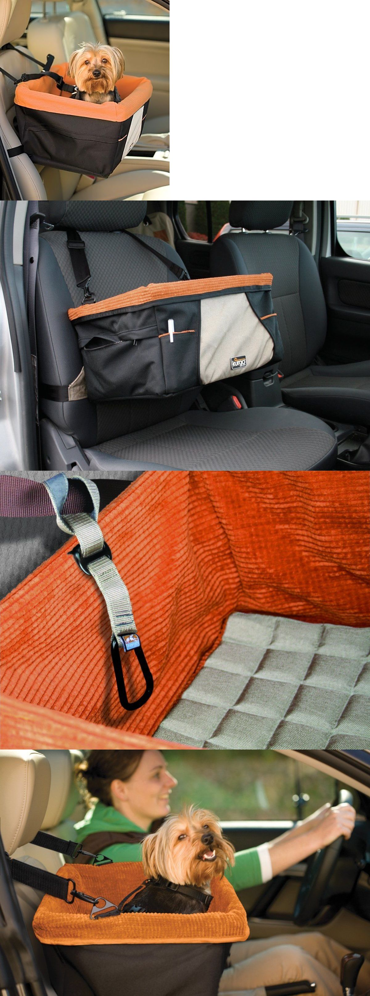 Car seats and barriers 46454 kurgo skybox dog booster seat for cars with seat belt