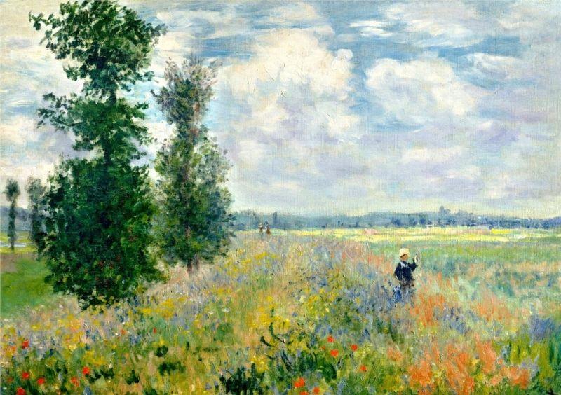bloemenveld, (impressionisme) Argenteuil