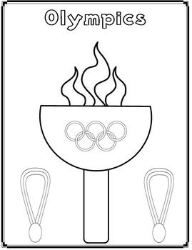 Olympics Coloring Page Freebie Olympic Crafts Preschool